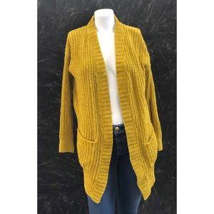 Express Yellow Knit Sweater Cardigan XS